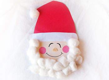 Santa Claus With Cotton Ball Beard
