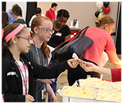 Students sample foods at the Choice Partners Child Nutrition Food Spectacular
