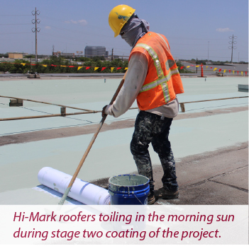 Hi-Mark Roofing and Waterproofing installation