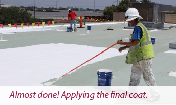 Hi-Mark Roofing applies HydroStop coating